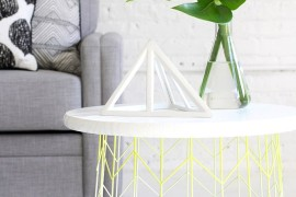 Wire basket side table from I Spy DIY  12 Fabulous Summer DIY Projects Wire basket side table from I Spy DIY