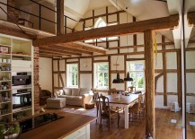 Wood-and-brick-shape-the-lovely-interior-of-this-home-217x155