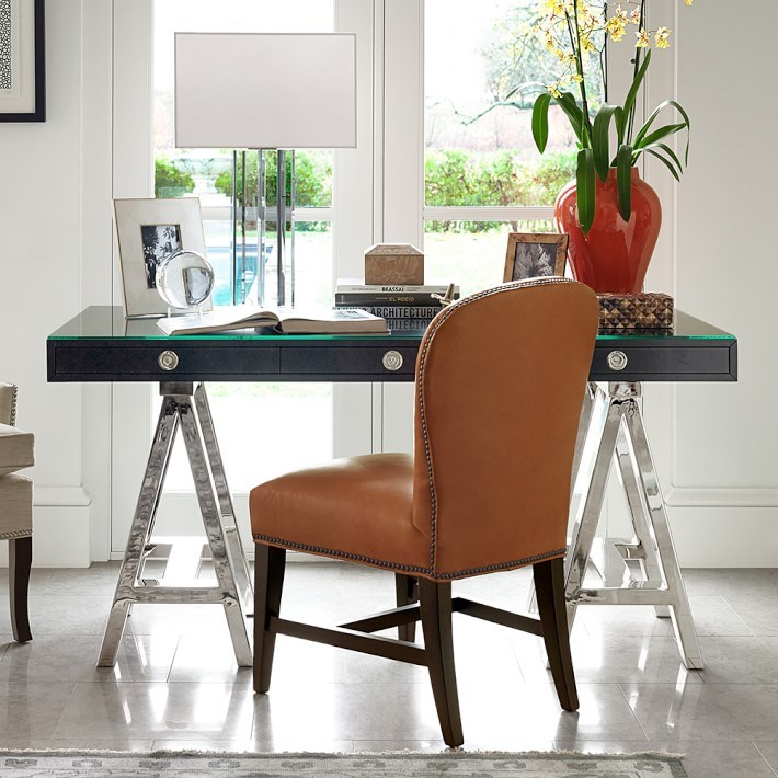 15 home offices featuring trestle tables as desks. Black Bedroom Furniture Sets. Home Design Ideas