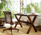 Wooden trestle desk from Pottery Barn