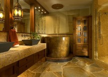 Zen-like luxury bath with Japanese soaking tub [Design: Jonathan McGrath Construction]