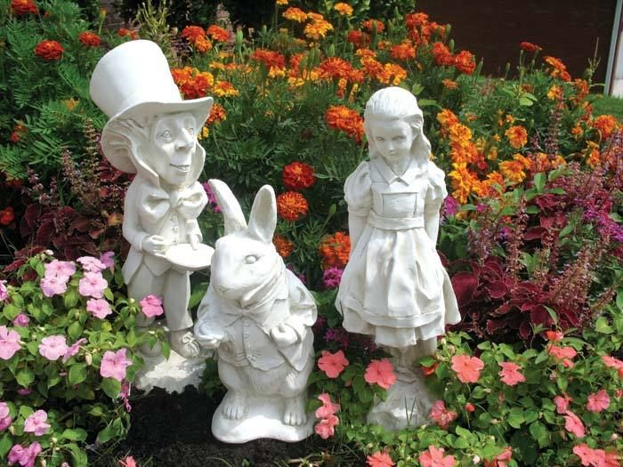 Garden Statue For Country Living Style View In Gallery Alice Wonderland 4