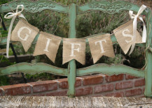 Burlap banners are simple and easy to make