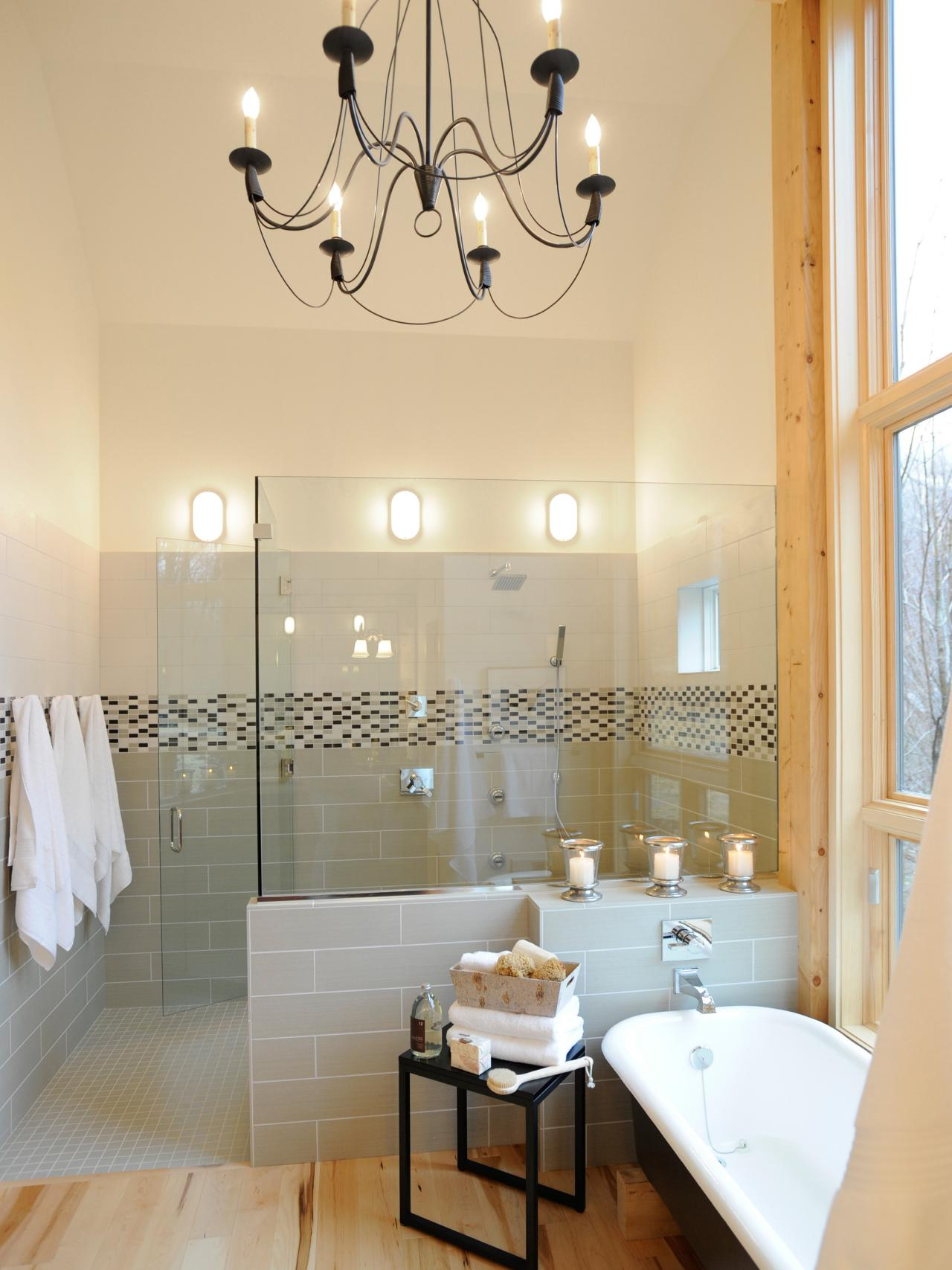 20 luxurious bathrooms with elegant chandelier lighting view in gallery bathroom lighting 3 aloadofball Image collections
