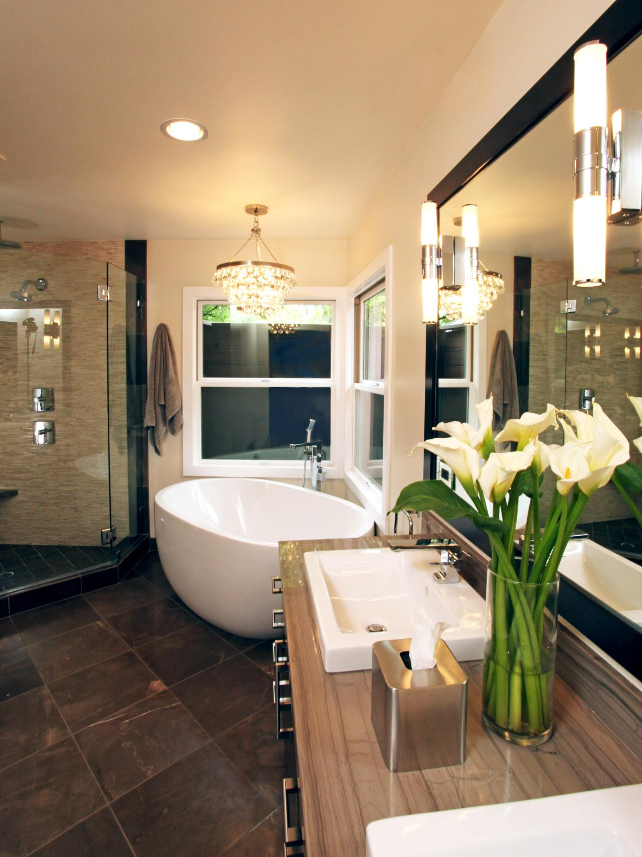 20 luxurious bathrooms with elegant chandelier lighting view in gallery bathroom lighting 9 aloadofball Choice Image
