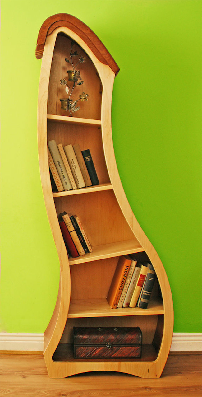 View In Gallery Bookcase Timber Shape