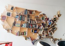 bookshelf america shape 217x155 22 Extremely Creative Bookshelves