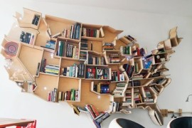 bookshelf america shape