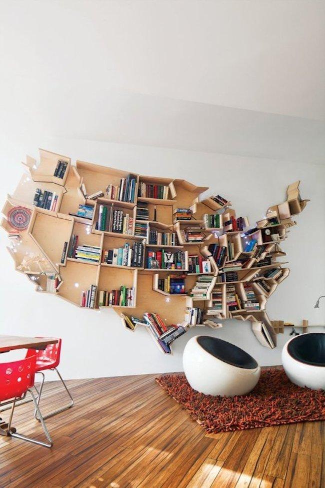 View In Gallery Bookshelf America Shape