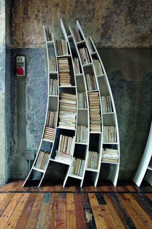 bookshelf curved