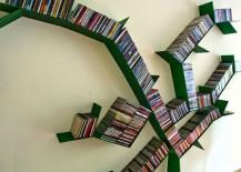bookshelves green tree