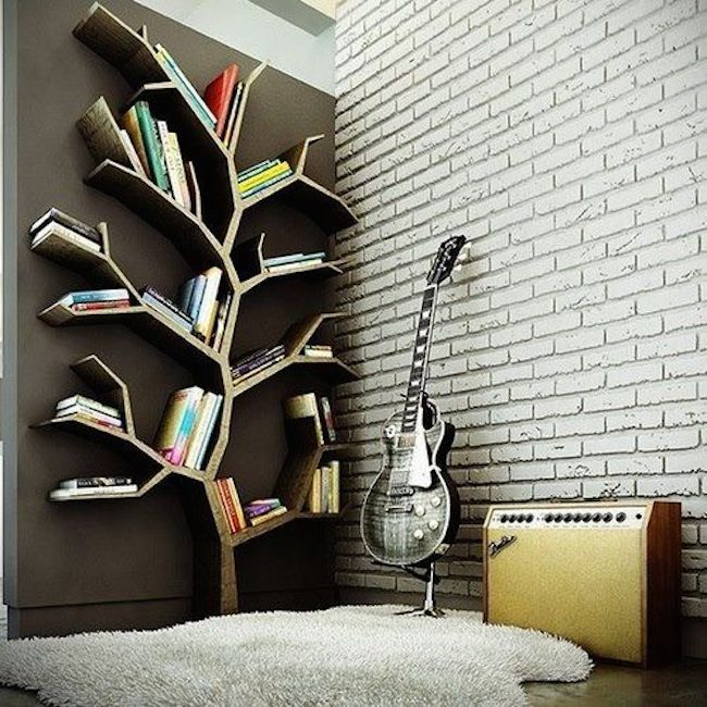 View in gallery bookshelves tree .