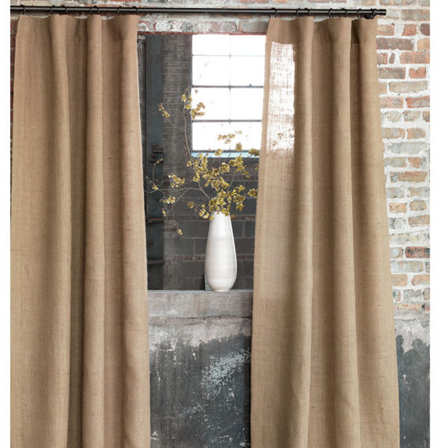 Simple curtains made out of burlap