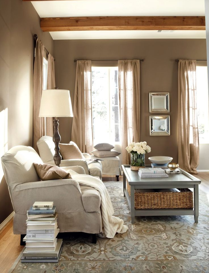 8 ways you can incorporate burlap into your decor for a for Neutral front room ideas