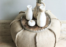 burlap ottoman 1 217x155 8 Ways You Can Incorporate Burlap into Your Decor for a Rustic Look