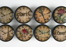 Beautiful door knobs with a Paris theme