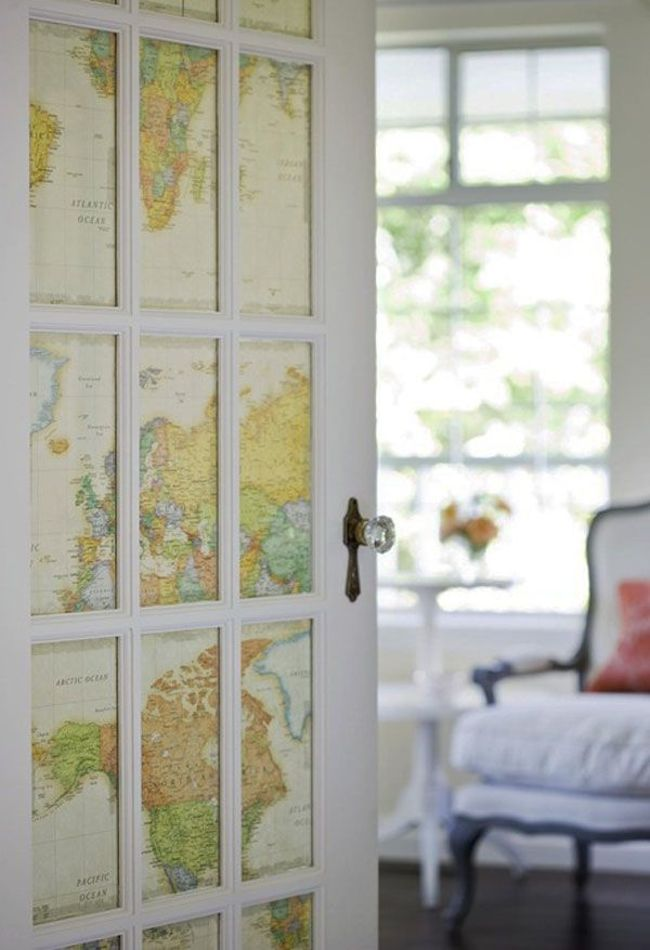 Lovely View In Gallery French Door Covering Map