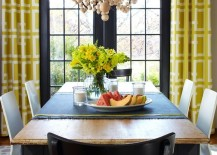 french doors drapes yellow