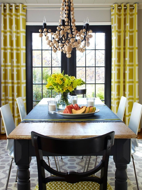 View In Gallery French Doors Drapes Yellow