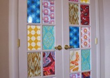 french doors fabric covering
