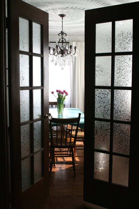 french doors frosted