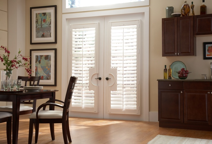french doors plantation shutters