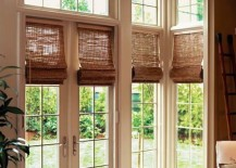 french doors woven wood shades