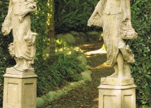Create a fabulous garden entrance with statues