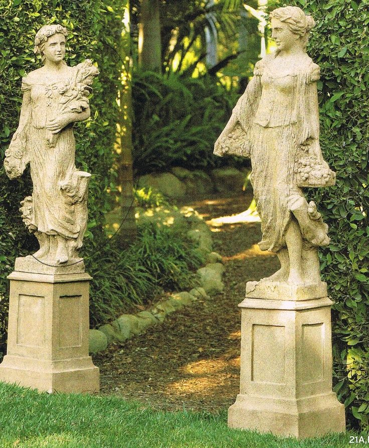Tall Garden Statues #3: Garden Statue Placed On Top Of Outdoor Dining Table View In Gallery  Functional 1