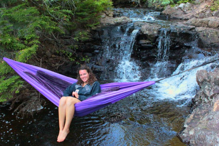Hanging hug hammock for a fun, outdoor lifestyle