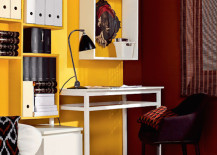 home office cubbies yellow