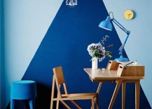 home office geometric triangle 217x155 Trendy Home Offices That Are Surprisingly Functional