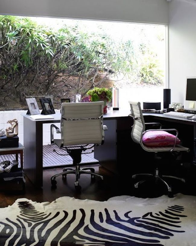 home office large view zebra