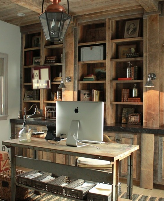 home office rustic 1