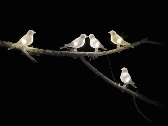 IKEA solar-powered bird lighting