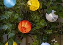 Colorful IKEA solar-powered lanterns