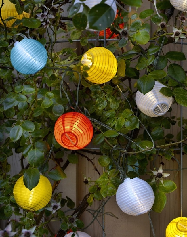 ikea solar-powered lanterns
