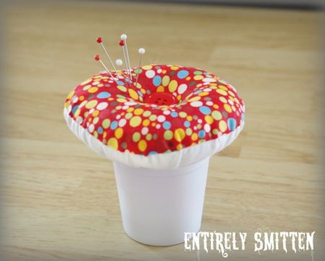 k-cup toadstool pincushion