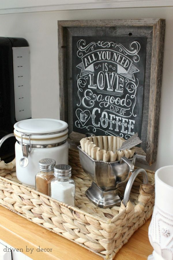 kitchen basket coffee