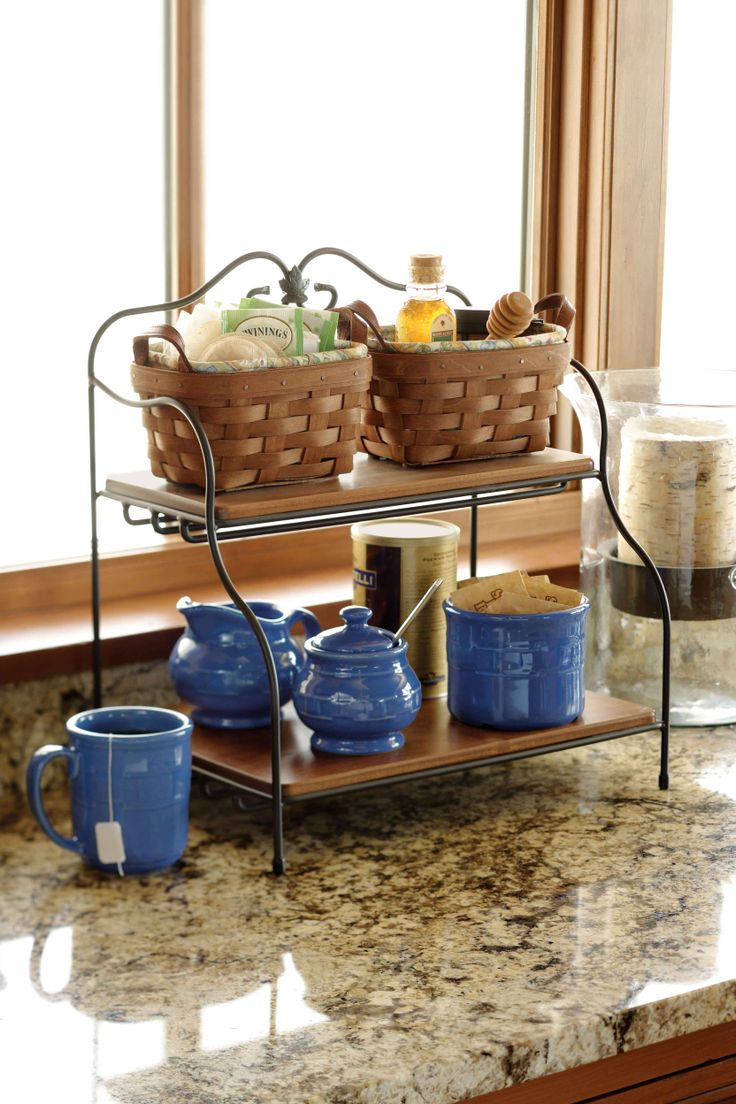 Interior Kitchen Countertop Storage storage friendly accessory trends for kitchen countertops gallery tea basket