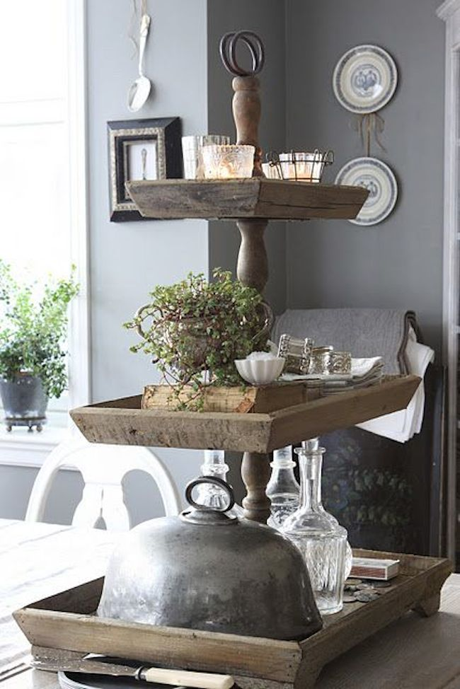 Multi tiered stand for the smart kitchen countertop decoist for Etagere dekorieren