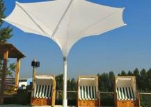 Elegant Tulip umbrella in white