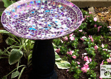 mosaic birdbath 1 217x155 7 Resourceful DIY Birdbath Ideas to Bring Life to Any Yard