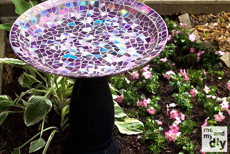 mosaic birdbath 1