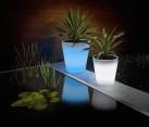 Solar powered outdoor planter