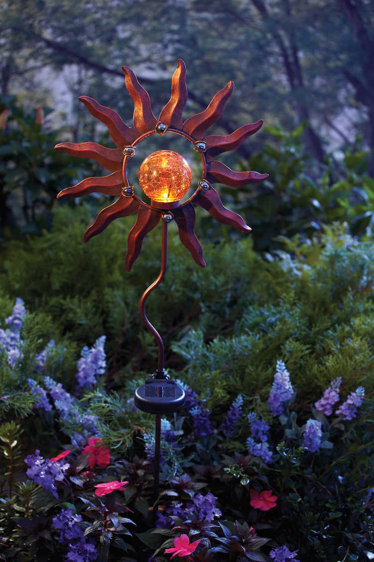 solar-powered sun piece