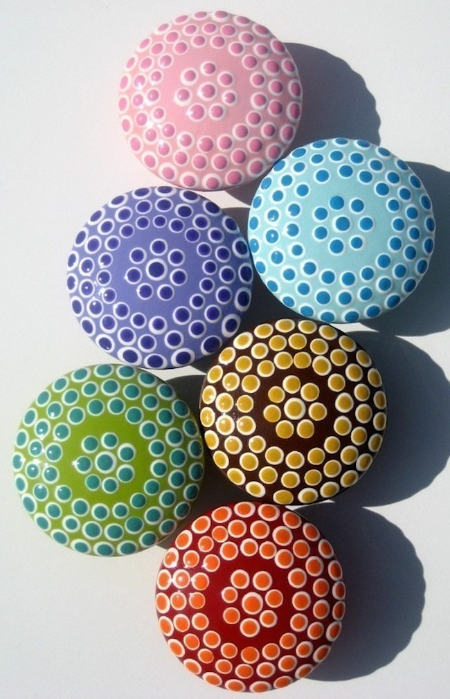 Artsy drawer knobs that are positive to stand out