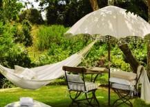 Vintage garden umbrella
