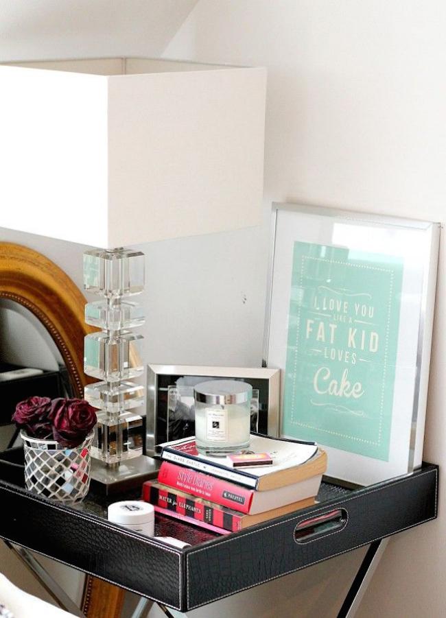 wall art nightstand 1