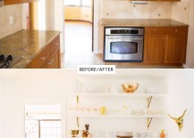 A kitchen gets a bright update via A House in the Hills 217x155 Room Design Made Easy: Effective Updates